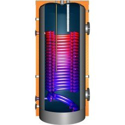 JDW 500 Hochleistungswärmepumpenspeicher mit Doppelwendel-Wärmetauscher