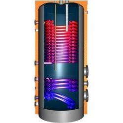 JDWS 600 Hochleistungswärmepumpenspeicher mit 2 Doppelwendel-Wärmetauscher